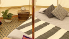 bell tent interior glamping
