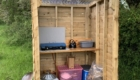 cooking cabin glamping